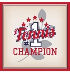 Tennis Badge Template vector image