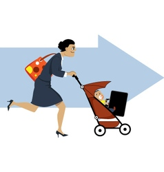 Working mother vector image vector image