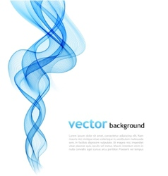 Abstract colorful blue waved background vector image vector image