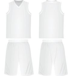 Basketball shirt and shorts vector