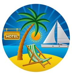 beach travel vector image