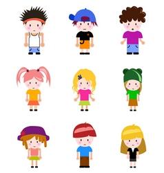 cartoon kid vector image vector image
