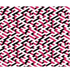 Maze labyrinth - isometric endless pattern vector