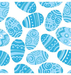 seamless easter blue pattern vector image