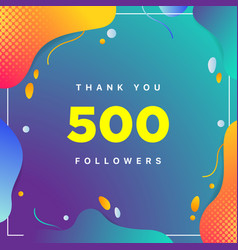500 followers thank you colorful geometric vector