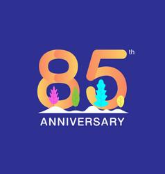 85 years anniversary celebration logotype vector