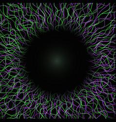 Abstract human eye circle frame technology concept vector