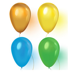 an a set colourful birthday or party vector image