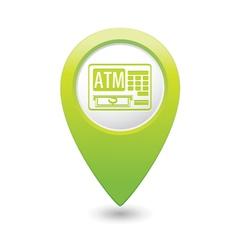 Atm icon green pointer vector