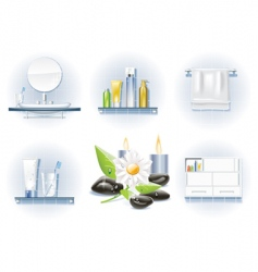 Bath icon set vector