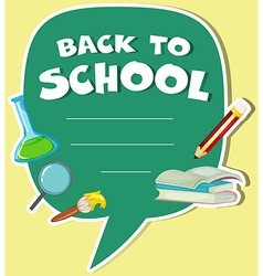 Border design with back to school theme vector image