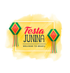 brazil festa junina celebration background vector image