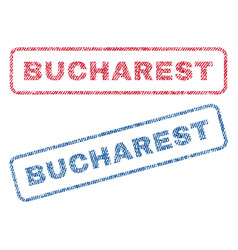 Bucharest textile stamps vector