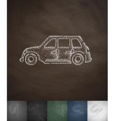 Car icon hand drawn vector