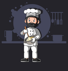 Cartoon african chefs cooking vector