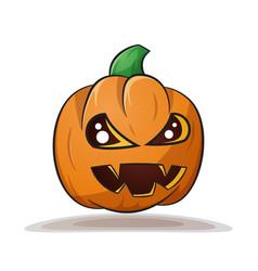 cartoon pumpkin evil horror vector image
