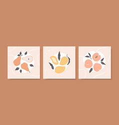 collection trendy summer backgrounds in pastel vector image