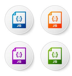 Color js file document icon download js button vector