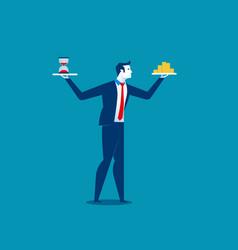 concept business time is money businessman vector image