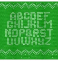 Crochet font knitted ornament vector