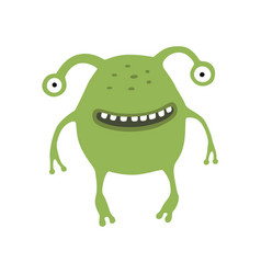 Cute monster on white isolated vector