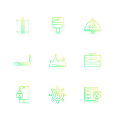 Cyber security internet security stationary vector