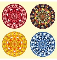 decorative ornamental circles set vector image