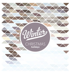 design template winter season poster vector image