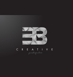 Eb e b letter logo with zebra lines texture vector