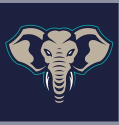 Elephant mascot icon vector