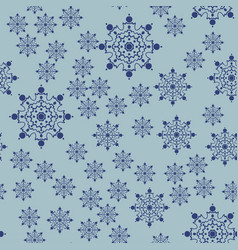 Falling snowflakes seamless background for xmas vector
