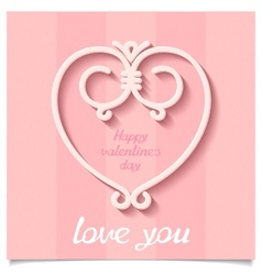 Festive Happy Valentines Day heart vector image