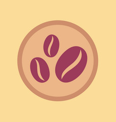 Flat icon on background beans coffee logo vector