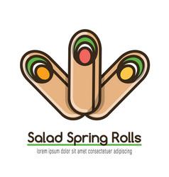 Food logotype with three rolls vector