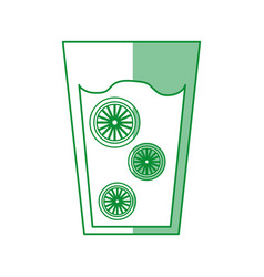fresh orange juice drink icon vector image