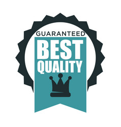 guarantee best quality product seal isolated vector image