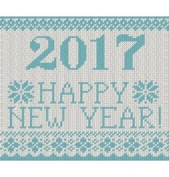 Happy New Year 2017 seamless pattern vector image