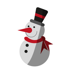 happy snowman icon image vector image