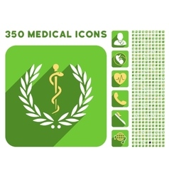 Healh Care Laurel Wreath Icon and Medical vector