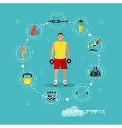 Healthy lifestyle concept in vector image