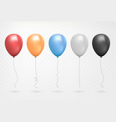 helium balloon shine colored set flying realistic vector image