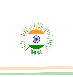 Independence day india from british empire vector