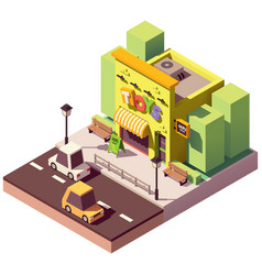 Isometric toy store vector