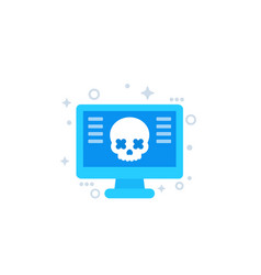 Malware computer virus icon vector