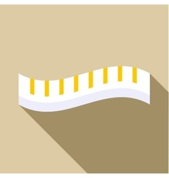Measuring striped tape icon flat style vector