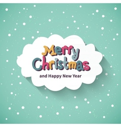 Merry Christmas card Flat design vector image