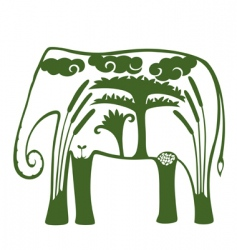 natural elephant vector image