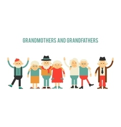 Older people in different costumes vector