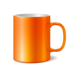 Orange cup isolated on white background vector