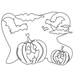 outline halloween background vector image